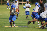 Water Valley High School football practice in Water Valley, Miss. on Monday, July 26, 2010.