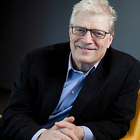 Portrait of Sir Ken Robinson, renowned author educator and speaker in his Los Angeles office.