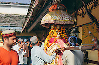 A Kullu deity being blessed at Lord Raghunath Temple on Dussehra. Kullu Dussehra is the Dussehra festival observed in the month of October in Himachal Pradesh state in northern India. It is celebrated in the Dhalpur maidan in the Kullu valley. Dussehra at Kullu commences on the tenth day of the rising moon, i.e. on 'Vijay Dashmi' day itself and continues for seven days. Its history dates back to the 17th century when local King Jagat Singh installed an idol of Raghunath on his throne as a mark of penance. After this, god Raghunath was declared as the ruling deity of the Valley. Kullu Dussehra is the Dussehra festival observed in the month of October in Himachal Pradesh state in northern India. It is celebrated in the Dhalpur maidan in the Kullu valley. Dussehra at Kullu commences on the tenth day of the rising moon, i.e. on 'Vijay Dashmi' day itself and continues for seven days. Its history dates back to the 17th century when local King Jagat Singh installed an idol of Raghunath on his throne as a mark of penance. After this, god Raghunath was declared as the ruling deity of the Valley.