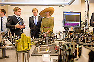 King Willem-Alexander and Queen Maxima of The Netherlands visit Waterloo University in Kitchener, Canada, 28 May 2015. During the visit students receive their scholarships and the king and queen visit the Quantum Lab. The King and Queen of The Netherlands bring an state visit from 27 till 29 may to Canada. COPYRIGHT ROBIN UTRECHT