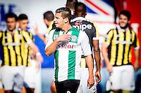 ARNHEM - Vitesse - FC Groningen , Voetbal , Eredivisie, Seizoen 2015/2016 , Gelredome , 03-10-2015 , FC Groningen speler Bryan Linssen (m) baalt van de 1-0 die zij tegen krijgen