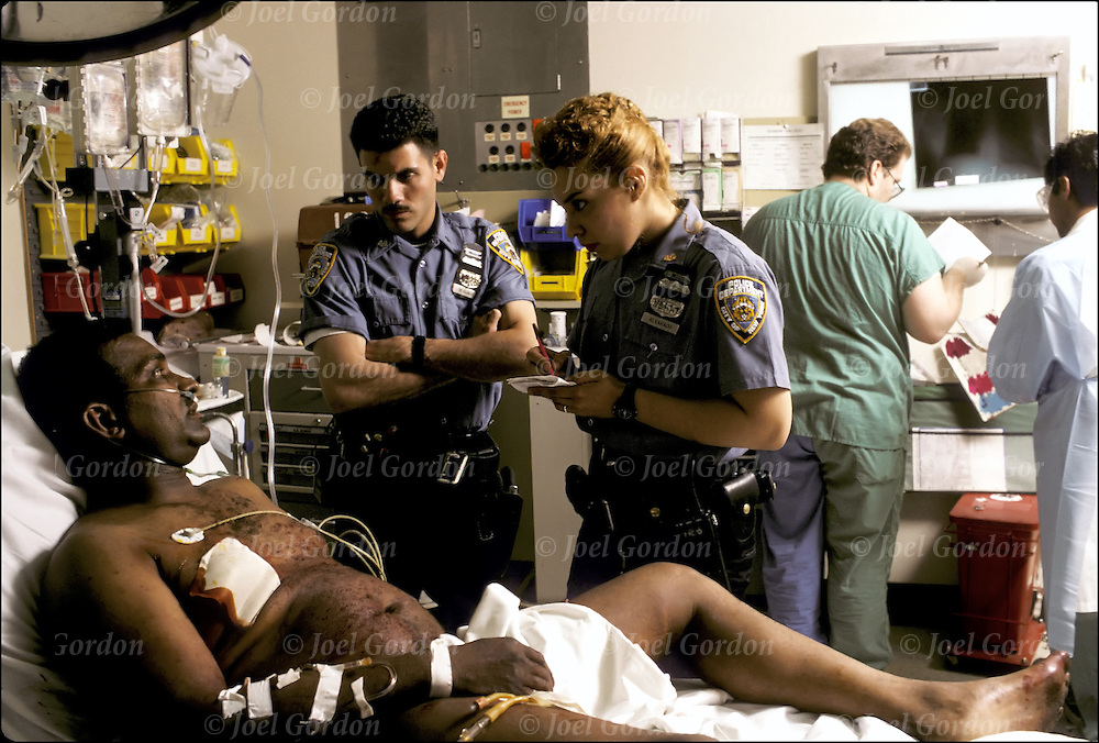 Questioning Gun Shot Victim Joel Gordon Photography