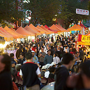Keefer Street night market in Vancouver's Chinatown district.  Vancouver BC, Canada.