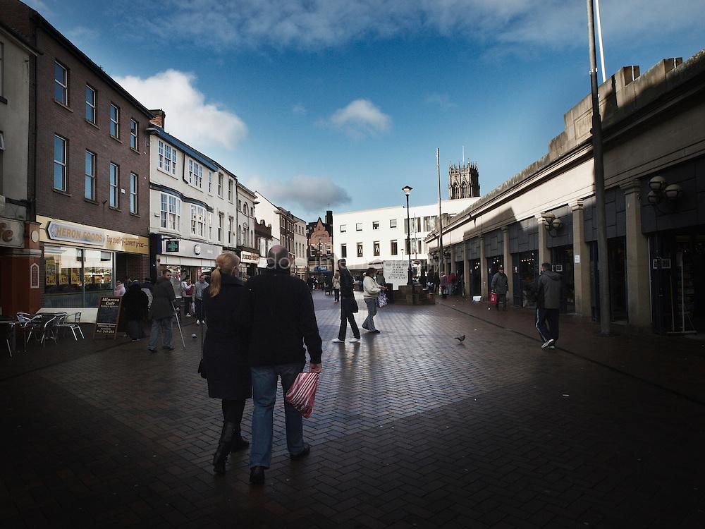 Doncaster city centre.