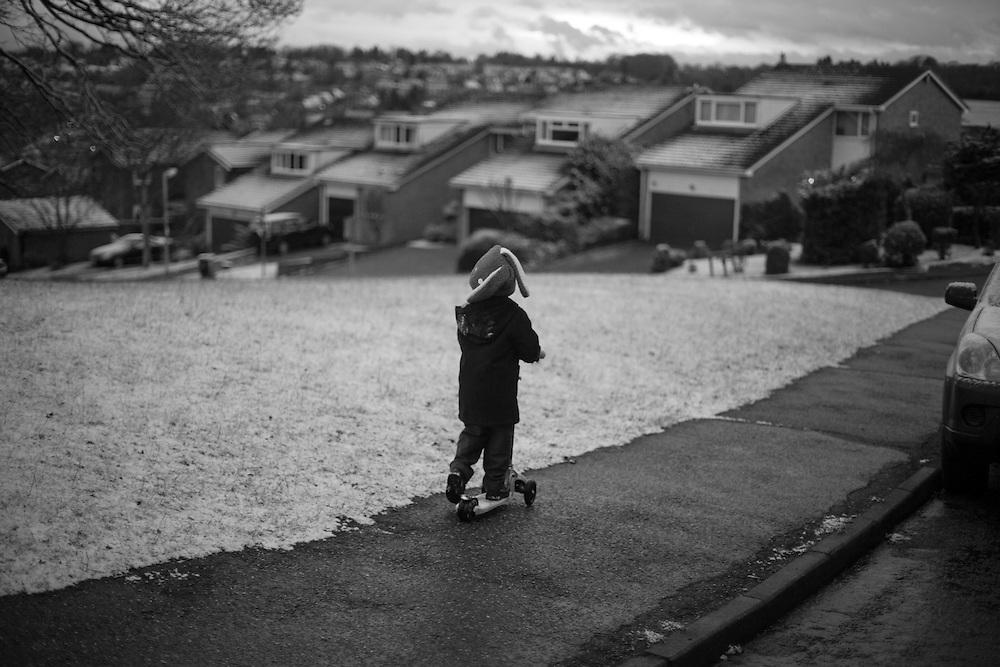 Ben scoots home from his school in  Berkhamsted England Thursday, Jan. 29, 2015 (Elizabeth Dalziel) #thesecretlifeofmothers #bringinguptheboys #dailylife