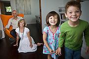 Juanita Phillips with husband Mario, and children Marcus and Mischa