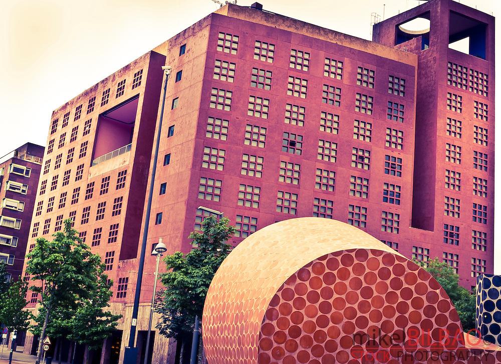 Melia Hotel building. Bilbao, Biscay, Basque Country, Spain.