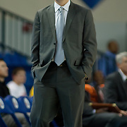 Iowa Energy Head Coach Nate Bjorkgren seen in the second first half of a NBA D-league regular season basketball game between the Delaware 87ers (76ers) Iowa Energy Tuesday, Jan 14, 2014 at The Bob Carpenter Sports Convocation Center, Newark, DE