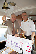 Visit Scotland Launch of Scotland's Heartland campaign at Linlithgow Canal Centre & Museum, Thursday 8th July, 2010. Pic shows Jim Mather, Minister for Energy, Enterprise & Tourism and Ronnie Bamberry, Chair Scotland's Heartland project and Chair of Pride & Passion Linlithgow.