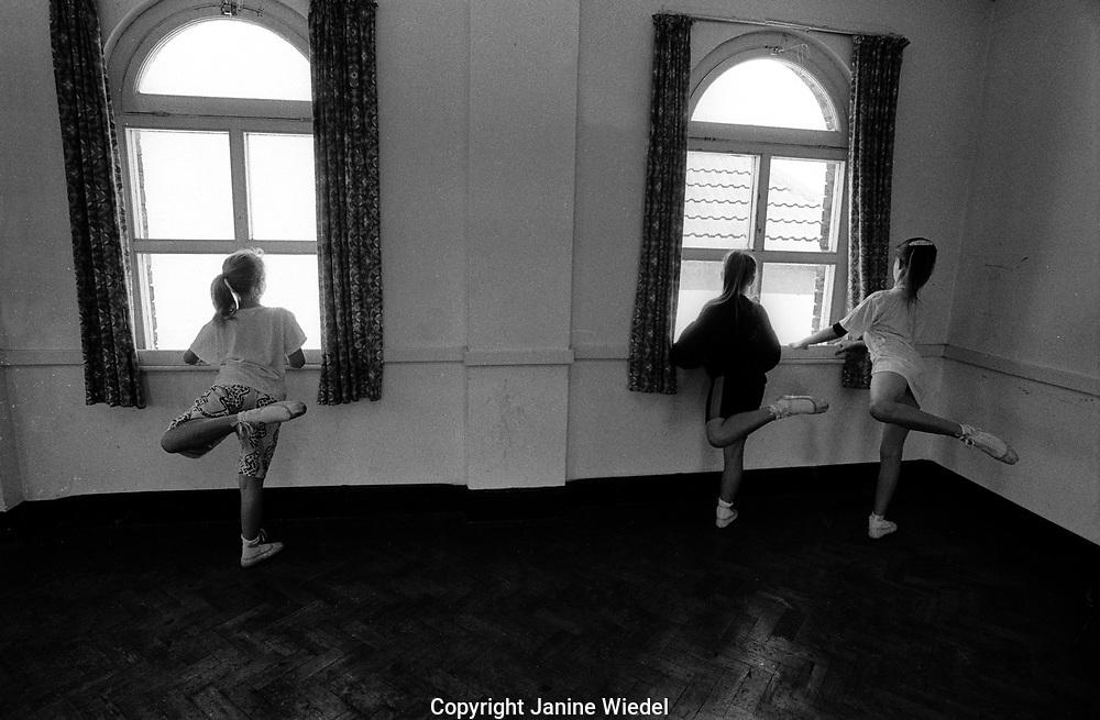 Ballet class for young children