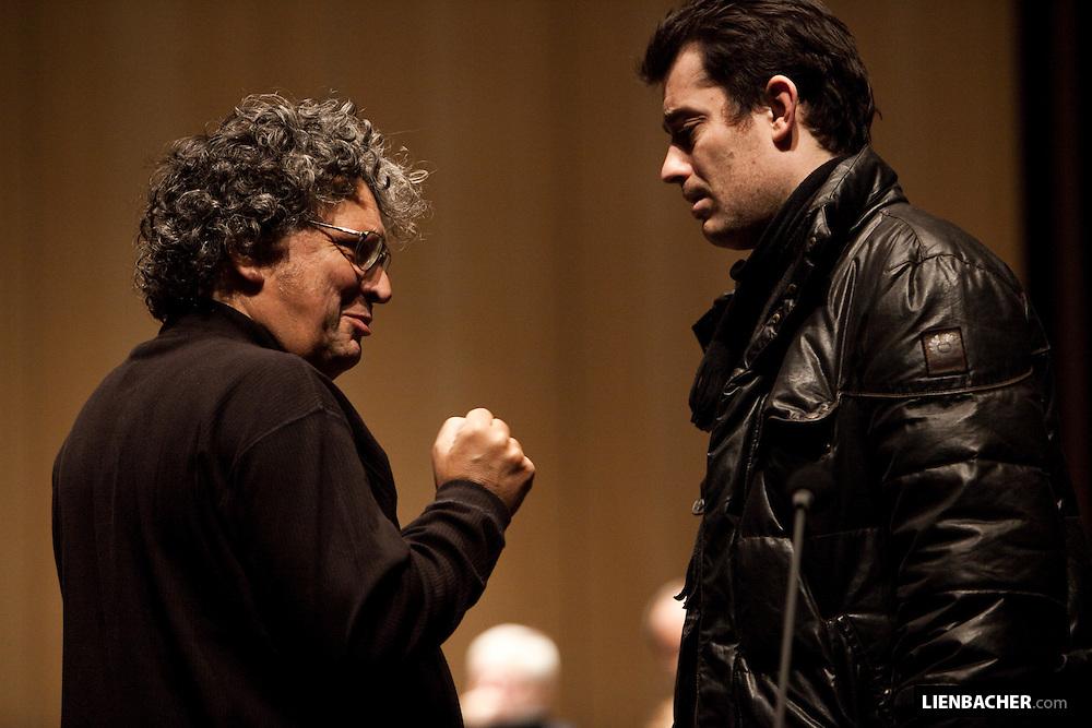 René .Jacobs und Donat Havár. Grand Festival Hall Salzburg. Photo: Wolfgang Lienbacher