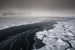 Raudfjorden in March at the northern tip of Spitsbergen, Svalbard, Norway