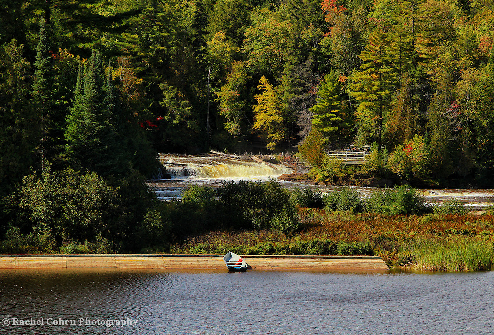 &quot;Boating at Tahquamenon Falls&quot;<br /> <br /> Scenic lower Tahquamenon Falls and boating area!!<br /> <br /> Waterfalls by Rachel Cohen