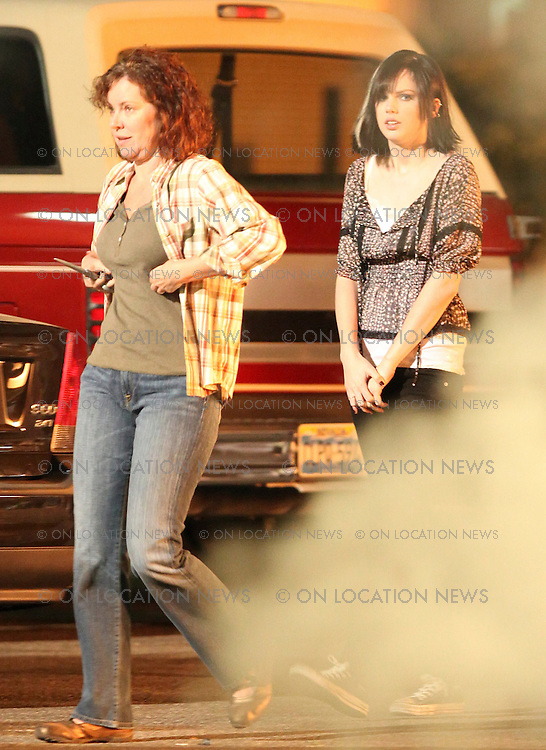 "***EXCLUSIVE***  January 13th 2009  Los Angeles, CA. Taylor Swift guest stars on ""CSI: Crime Scene Investigation."" The American country-pop singer-songwriter plays the dark character of Haley Jones, a teenaged girl whose family runs a seedy motel in Las Vegas. Over the course of a year, Haley goes through a series of changes that have tragic consequences. Taylor's first scenes were innocent bicycle riding scenes. Then she had dialog scenes with George Eads who plays Nick Stokes. In the last scenes of the day Taylor had a different look and was stabbed to death by her Mother with a pair of  scissors. Eric Ford/ On Location News 818-613-3955 info@onlocationnews.com"