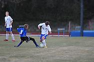 Oxford's Baxter Elliott (10) vs. Saltillo in boys high school soccer action at Oxford High School in Oxford, Miss. on Thursday, January 27, 2011.