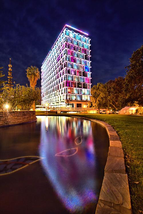 Perth Council House at night.