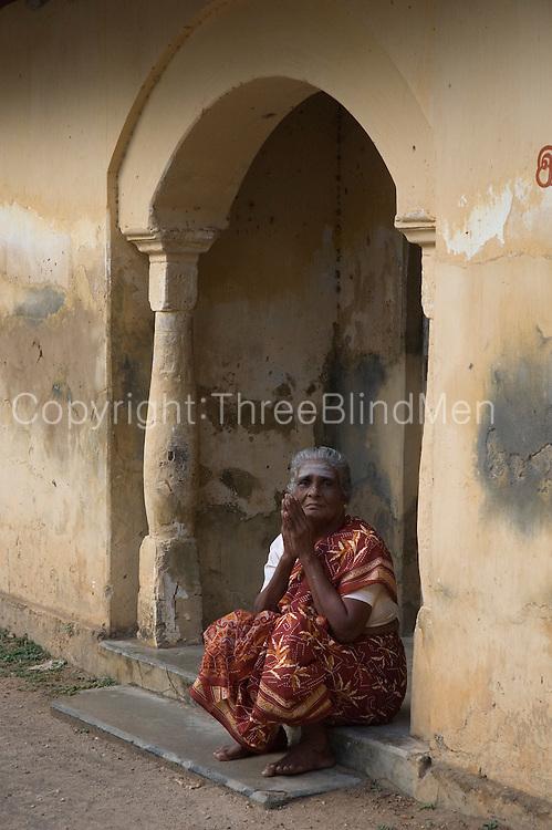 Seated in an Ashram doorway, Thondamanaru.