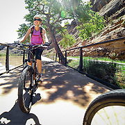 SHOT 5/9/16 11:22:36 AM - GoPro footage and stills of the Mag 7 trail, Fisher Towers and the bike trail along Highway 128 in Moab. Moab is a city in Grand County, in eastern Utah, in the western United States. Moab attracts a large number of tourists every year, mostly visitors to the nearby Arches and Canyonlands National Parks. The town is a popular base for mountain bikers and motorized offload enthusiasts who ride the extensive network of trails in the area. (Photo by Marc Piscotty / © 2016)