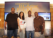 l to r: Gregory Allen Howard, Melanie Sharease, Jeff Friday and John Singleton at The Master Class with John Singleton during the The 2009 American Black Film Festival held at The Ritz-Carlton in Miami Beach on June 27, 2009 ..