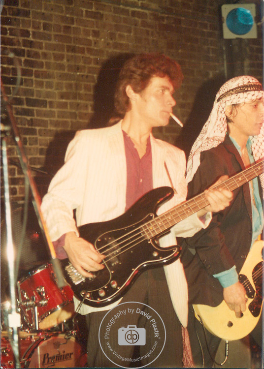 Billy Rath of Johnny Thunders & The Heartbreakers Billy Rath with Johnny Thunders live at Great Gildersleeves , NYC, 1982