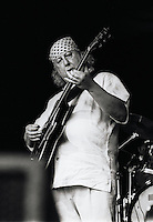 Peter Green, co-founder of Fleetwood Mac performs at Bishopstock Blues Festival in Devon in 2001