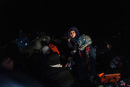 A dingy trasporting about 40 migranst is arriving on the shores of Lesbos after crossing from Turkey FEDERICO SCOPPA/CAPTA