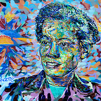 Pauli Murray Roots and Soul Mural in Durham, North Carolina<br /> Pauli Murray &ldquo;Roots and Soul&rdquo; mural is located on Chapel Hill Street in Durham, North Carolina. The vivid painting pays tribute to the American civil rights activist. She was also a lawyer, a close friend of Eleanor Roosevelt, the first black woman ordained as an Episcopal priest and posthumously named a saint. The mural is part of the Pauli Murray Project at the Franklin Humanities Institute.