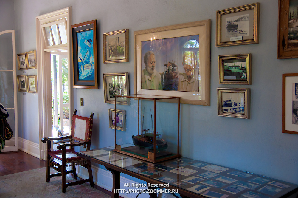 ernest hemingway home interior travel stock photos