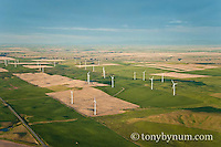 aerial image wind farm ethridge montana edge of blackfeet reservation