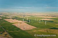 aerial image wind farm ethridge montana edge of blackfeet reservation conservation photography - blackfeet oil