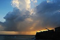 Old Barbados Fort at sunset