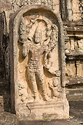 Sri Lanka. Gurad stone at entrance to he Vatadage temple,  a circular relic house or shrine, at Polonnaruwa.