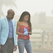 """ROSEWOOD: Pictured L-R: Morris Chestnut and Gabrielle Dennis in the """"Boatopsy & Booty"""" episode of ROSEWOOD airing Thursday, Oct. 13 (8:00-8:59 PM ET/PT) on FOX. ©2016 Fox Broadcasting Co. CR: Lisa Rose/FOX"""