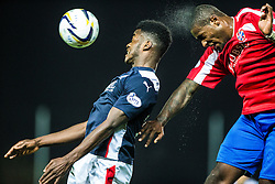 Falkirk's Botti Biabi and Cowdenbeath's Nathaniel Wedderburn.<br /> Falkirk 1 v 0 Cowdenbeath, William Hill Scottish Cup game played 29/11/2014 at The Falkirk Stadium.