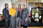 l to r: Lorenzo Daughtery Chambers, Sharon Daoughtery, Rev. Daughtery and Terrie Williams at The 84th Birthday Celebration for Malcolm X and the Memorializing and Marking, for the First Time, the Location in Audubon Ballroom Where He Was Martyred in 1965.