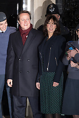 DEC 08 2014 Downing Street Christmas Tree lights switched