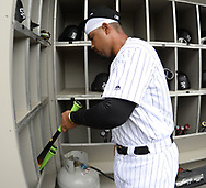 CHICAGO - APRIL 04:  Jose Abreu #79 of the Chicago White Sox looks on in the dugout prior to the game against the Detroit Tigers on April 04, 2017 at Guaranteed Rate Field in Chicago, Illinois.  The Tigers defeated the White Sox 6-3.  (Photo by Ron Vesely)   Subject:  Jose Abreu