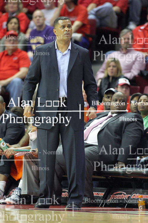 16 December 2012:  Todd Bozeman during an NCAA men's basketball game between the Morgan State Bears and the Illinois State Redbirds (Missouri Valley Conference) in Redbird Arena, Normal IL