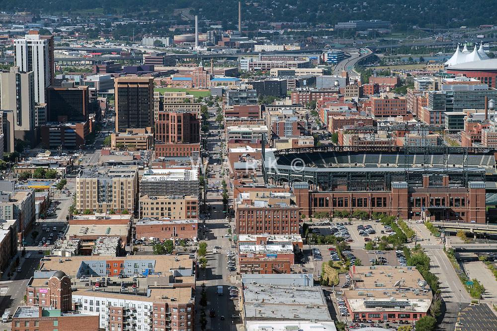 Coors Field, Blake Street, LODO Denver. Aug 20, 2014. 812846