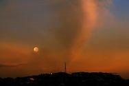 Full moon rising over Mt Victoria, Wellington, New Zealand.