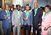 1 July 2010, New York , NY- Lloyd Dixon. Gregory Anthony, Andre Kirton, Noel Hankin and Sybil Chester at the Mayor's Cricket Cup Tournament Presentation sponsored by Moet Hennessey held at Gracie Mansion on July 1, 2010 in New York City. Photo Credit: Terrence Jennings/Sipa