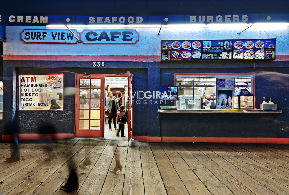 Surf View Cafe   An Evening at Santa Monica Pier, Los Angeles, California, USA