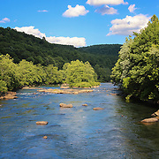 &quot;Youghiogheny River&quot;<br /> <br /> Such a lovely day on the Youghiogheny River in Pennsylvania! Blue skies and green trees make a wonderful summer scene!