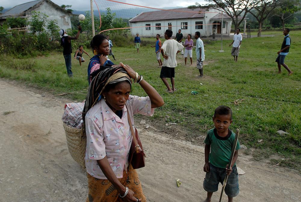 Daily life in the Ermera district village of Fatuquero..Timor-Leste
