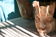 Visiting a sculptor living in the countryside east of Holguin, Cuba.