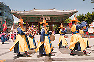 Deoksugung palace, changing of the guard, Seoul, South Korea