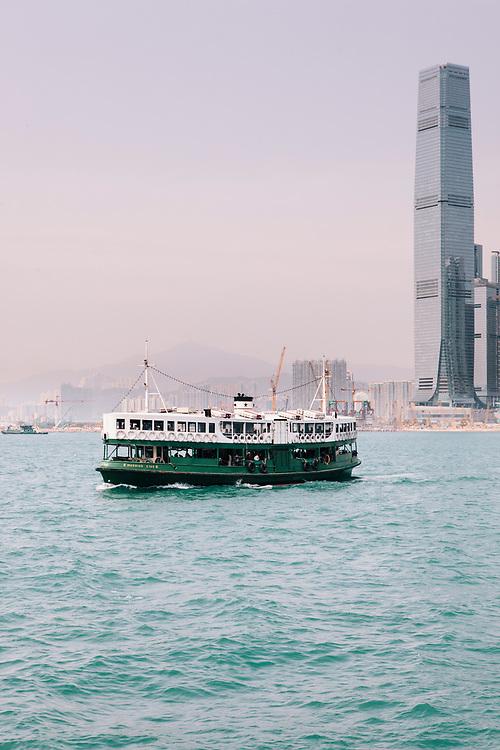 Star Ferry between Hong Kong island and Kowloon