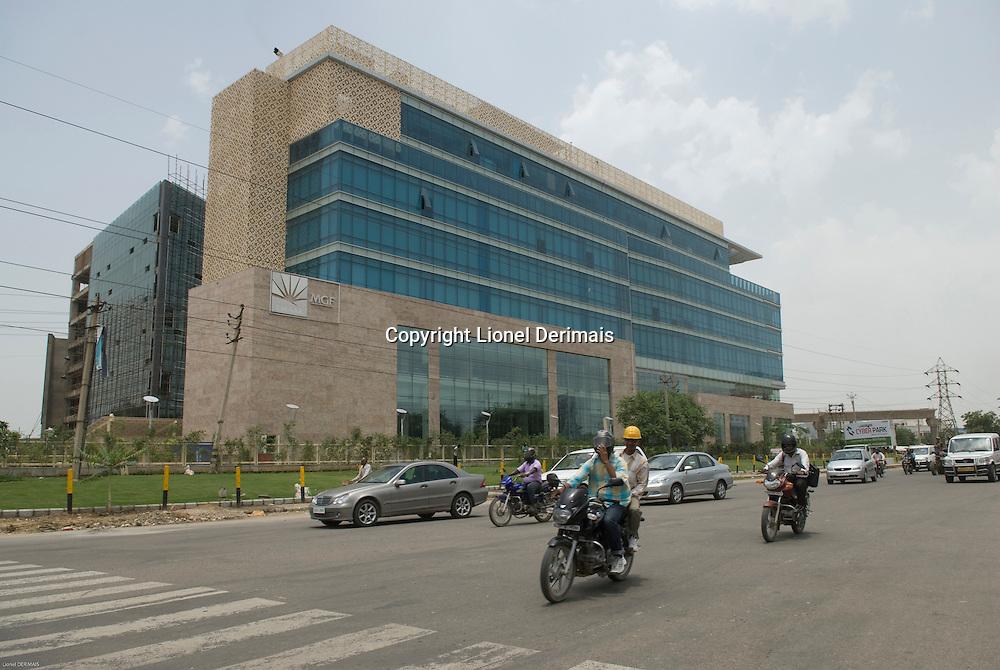 Gurgaon, le quartier des affaires de New Delhi, au sud de la ville. <br /> <br /> Gurgaon, an hour south of New Delhi is the new CDB.