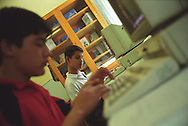 Children at work on computers in 'School Number 21', in Dushanbe., Tajikistan.