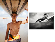 Mehdimir, 17, is a local surfer who is has just finished school and his due to start  teaching at Surfland in the summer. Oualidia, Morocco.